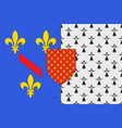 flag of chateaubriant in loire-atlantique of pays vector image vector image