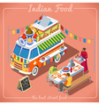 Food Truck 02 Vehicle Isometric vector image vector image