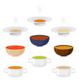 for hot ceramic bowl vector image