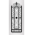 Forged gate door vector image vector image