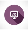 gear monitor icon vector image