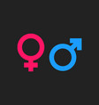 gender sign icon men and woomen concept icon vector image vector image