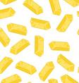 Gold bullion seamless pattern Golden ingot of vector image vector image