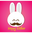 Happy easter smile rabbit bunny cartoon 002 vector image vector image