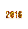 happy new year 2016 on a white background vector image