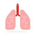 human lungs flat material design isolated object vector image vector image