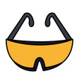 industrial safety goggles icon vector image vector image