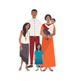 large loving indian family father mother holding vector image vector image