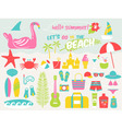 lets go to beach vector image