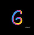 letter abstract letter blend line logo symbol vector image