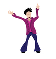 man dancing vector image
