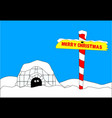 merry christmas north pole vector image vector image