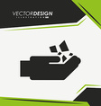 mining industry icon design vector image vector image