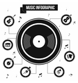 Music infographic simple style vector image