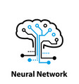 neural network concept connected cells with links vector image vector image
