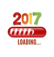 New year 2017 loading bar isolated on white vector image vector image