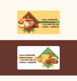 pastry business card baked cake cream cupcake vector image vector image