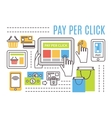 Pay per click internet advertising concept Flat vector image vector image