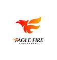 phoenix fire bird logo design concepts dove eagle vector image vector image