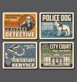 police detective justice court law and order vector image