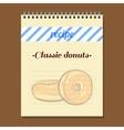 Recipe Book Classic Donut vector image vector image