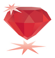 ruby gemstone vector image