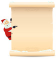 santa pointing christmas list vector image vector image