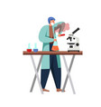 science people in lab flat isolated vector image vector image