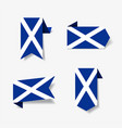 scottish flag stickers and labels vector image vector image