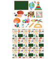 seamless background design with kids and vector image
