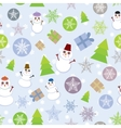 Seamless background Vintage Merry Christmas Card vector image vector image