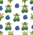Seamless pattern frogs vector image vector image