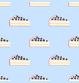 seamless pattern of cakes pies - yogurt cream vector image vector image