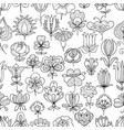 seamless pattern outlines various vector image
