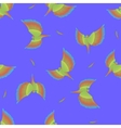 Seamless pattern with flying colorful parrot vector image