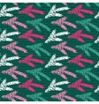 Seamless pattern with hand drawn fir branch vector image