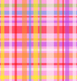 Seamless plaid pattern-pink vector image vector image