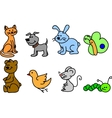 Set of cute animals vector image vector image