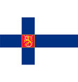 simple flag of finland vector image vector image