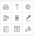stock icon set 9 line symbols for internet vector image vector image
