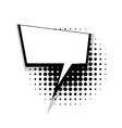 Template comic speech square sharp bubble vector image vector image