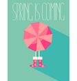 the a spring season vector image