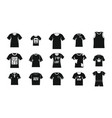 tshirt icon set simple style vector image vector image