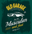 vintage muscle car logo concept isolated on vector image vector image