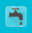 water tap silhouette icon in flat style on vector image