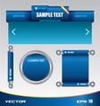 Web template designe vector image