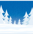 winter forest and snow vector image vector image