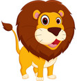 cute lion cartoon standing vector image