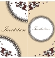 Beautiful floral invitation card with flowers vector image