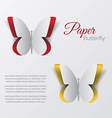 paper buterfly vector image